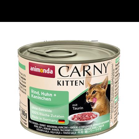 ANIMONDA Carny Kitten puszka wołowina, kurczak i królik 200 g