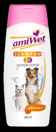 AmiWet Szampon 2w1 200 ml dla Psów i Kotów z Witaminą E