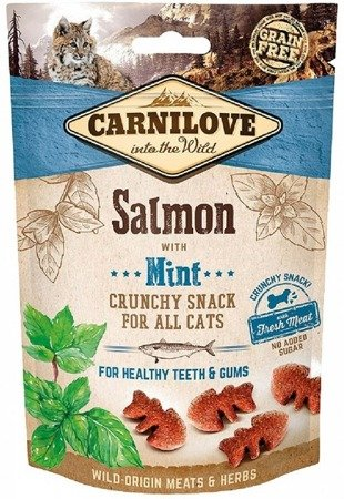 Carnilove Crunchy Snack Salmon & Mint With Fresh Meat 50 g, Łosoś i Mięta