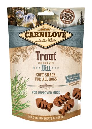 Carnilove Semi-Moist Snack Trout Enriched With Dill 200 g, Pstrąg i Koper