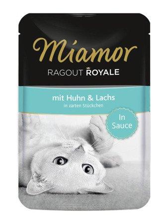 MIAMOR Ragout Royale z Kurczakiem i Łososiem w Sosie Saszetka 100 g
