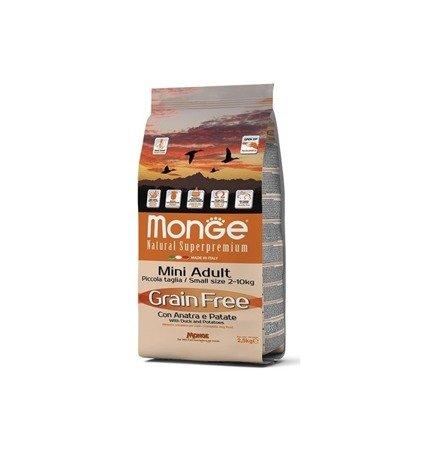 Monge Grain Free Mini Adult Kaczka z Ziemniakami bezzbożowa 2,5 kg