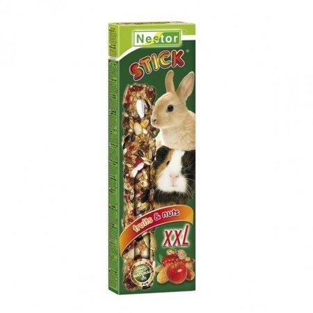NESTOR kolba XXL dla dużych gryzoni i królików owocowo orzechowe 150g 2 sztuki