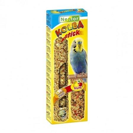 Nestor kolba 2 w 1 dla małych papug 2 sztuki jajeczna i owocowa