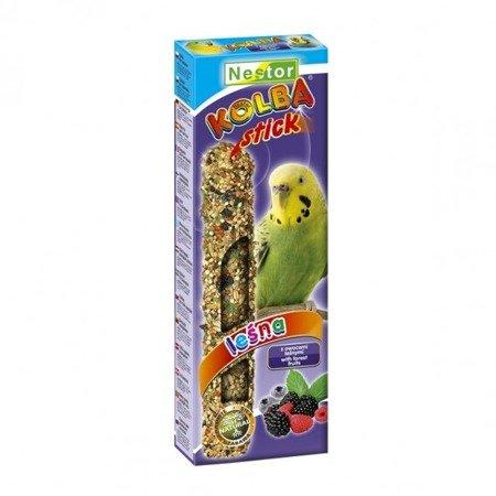 Nestor kolba z owocami leśnymi dla małych papug 2 sztuki