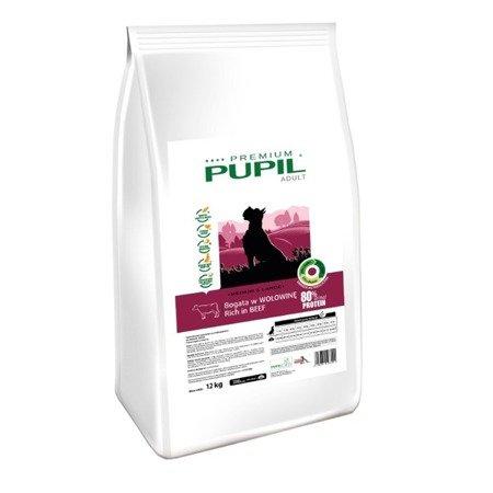 PUPIL Premium Adult Medium & Large bogata w wołowinę 12 kg