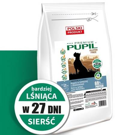 PUPIL Premium GLUTEN FREE MEDIUM & LARGE bogata w szprotkę z ziemniakami 12 kg
