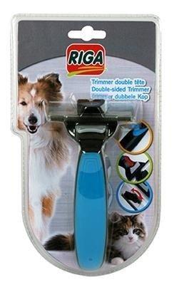 RIGA Trymer z podwójną głowicą dla psa i kota - furminator
