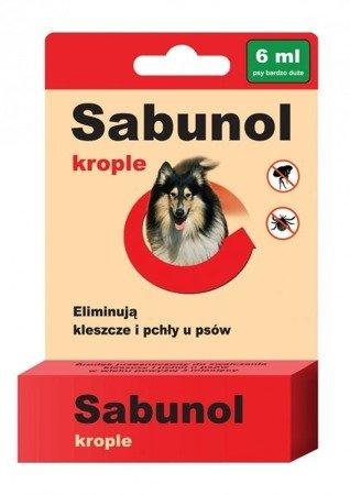 Sabunol Krople na Pchły i Kleszcze 6 ml dla psów od 40 do 60 kg