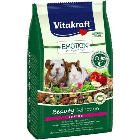 Vitakraft Emotion Beauty Selection Junior karma dla młodej świnki morskiej 600 g